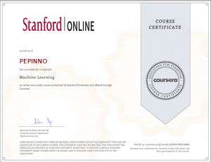 Machine Learning Diploma